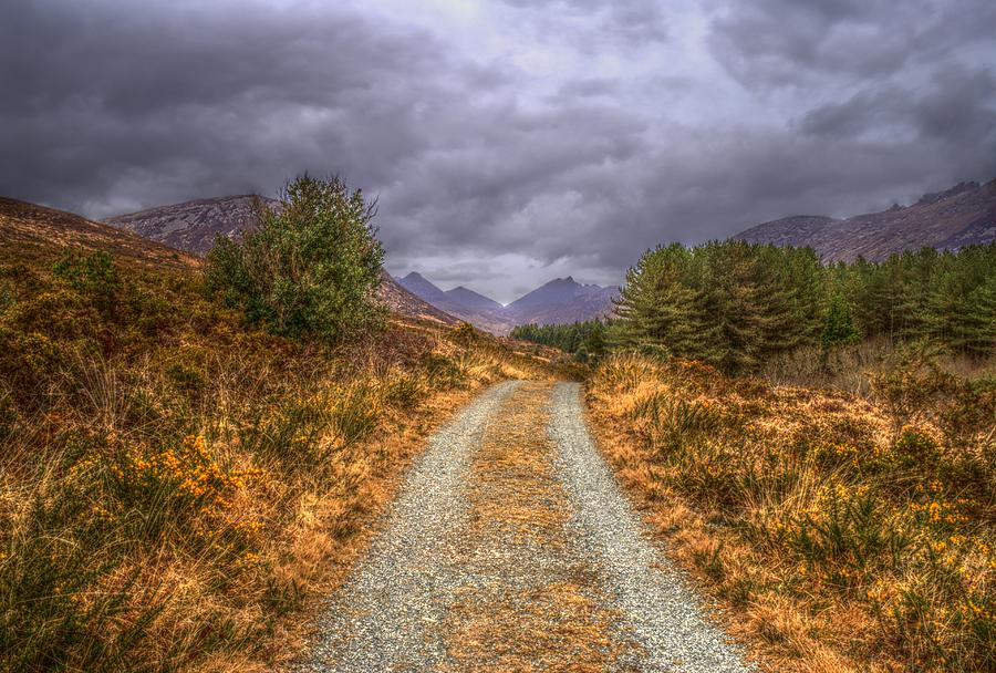 Road Photograph - Silent Valley Road by Matthew Green