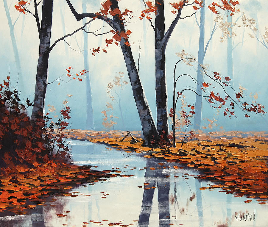 Fall Painting - Silent Woods by Graham Gercken
