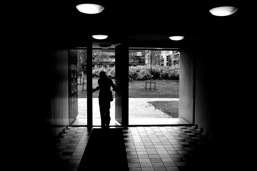 Silhouette Photograph - Silhouette Of A Man by Fabrizio Troiani