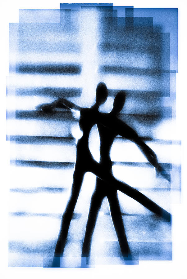Silhouette Photograph - Silhouette Of Dancers by David Ridley