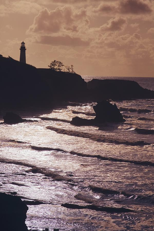 Lighthouse Photograph - Silhouette Of Lighthouse by Craig Tuttle