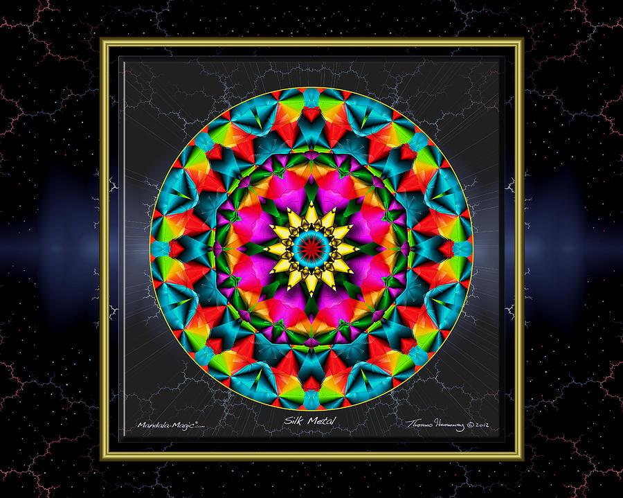 Mandala Painting - Silk Metal by Thomas Hemenway