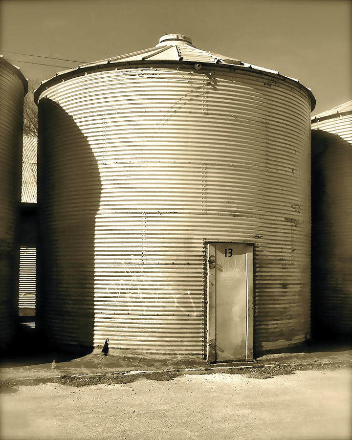 Reuse Photograph - Silo by Amber Hennessey