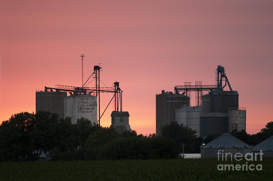 Prairie Sunset Photograph - Silos At Sunset by Art Whitton