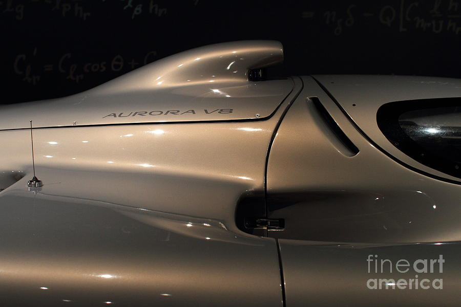 Transportation Photograph - Silver 1992 Oldsmobile Aerotech . 7d17295 by Wingsdomain Art and Photography