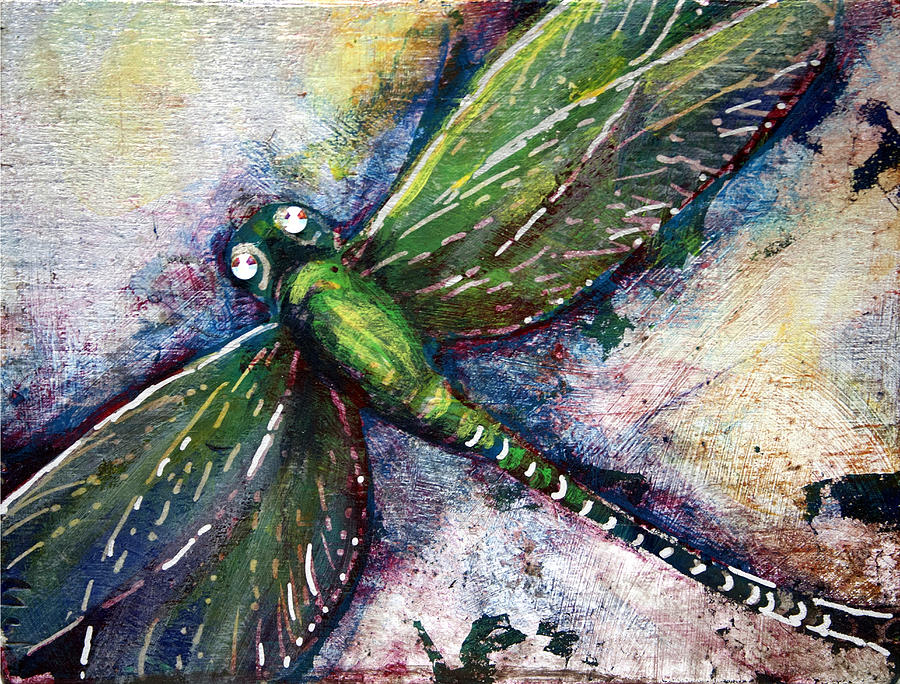 Dragonfly Mixed Media - Silver Dragonfly by Ashley Kujan