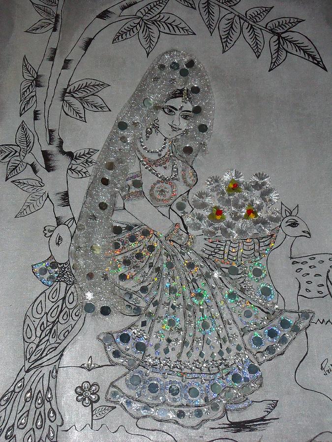 Silver Girl Painting by Priyanka Sharma