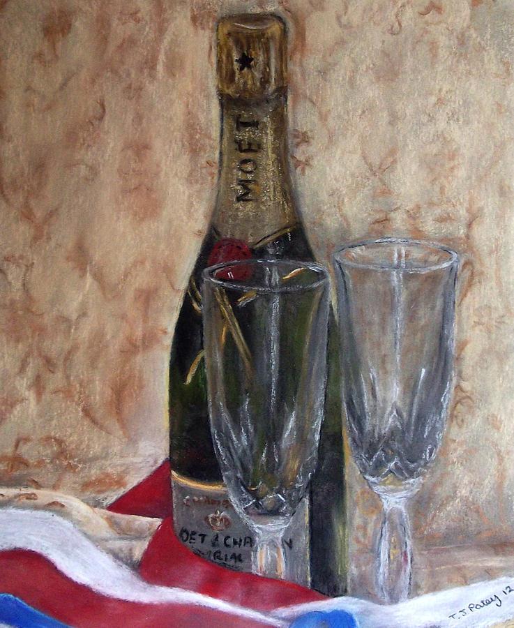 Bottle Painting - Silver Jubilee by Tanya Patey