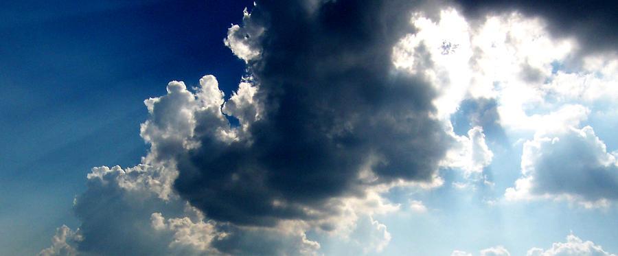 Clouds Digital Art - Silver Lining II by Dee Fabian