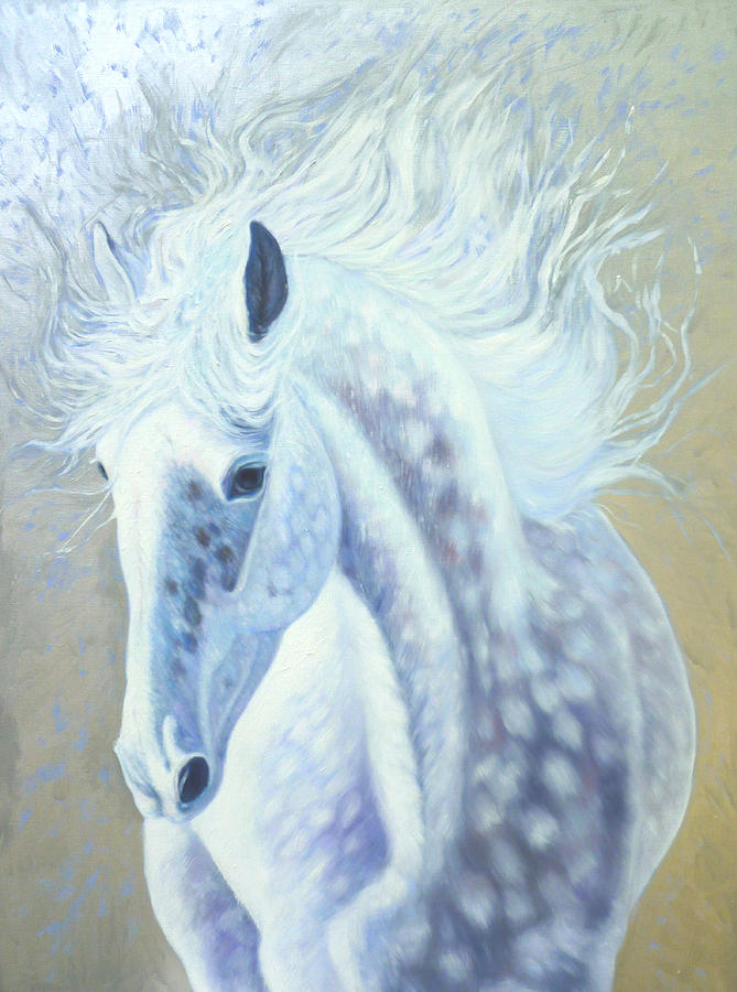 Mare Painting - Silver Mare by Gill Bustamante