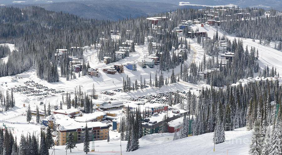 Silverstar Village From Above Silver Star Ski Resort Vernon Bc Photograph