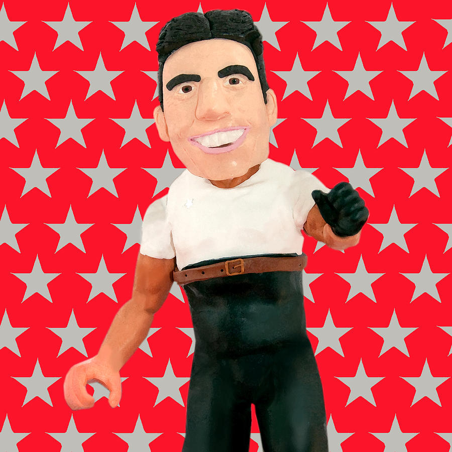 The X Factor Sculpture - Simon Cowell by Louisa Houchen