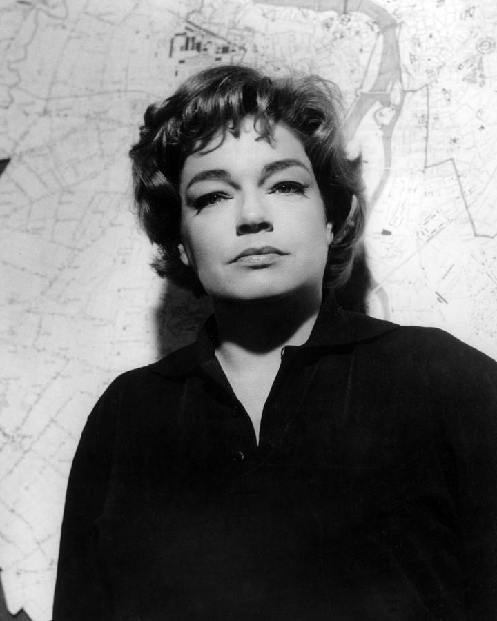 Portrait Photograph - Simone Signoret, 1963 by Everett