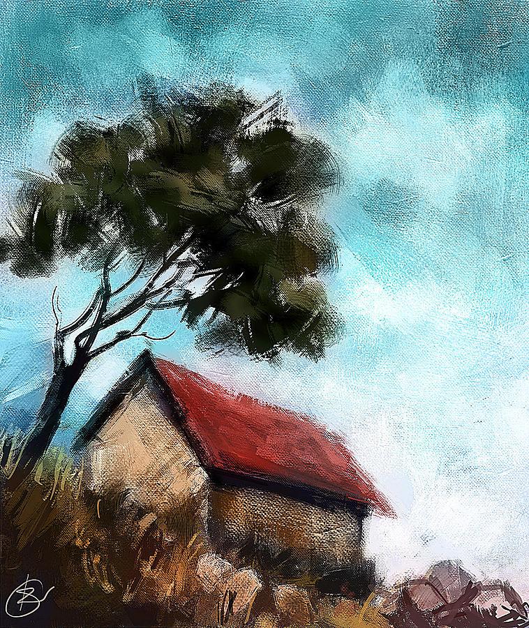 Simple Things Digital Painting: Simple Landscape Digital Art By Kiran Kumar