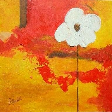 Flower Painting - Simple Life by Andrea Friedell
