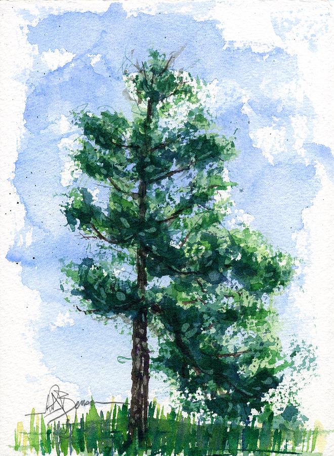 TREE of LIFE XI - by Marcia Baldwin from Landscapes  Simple Tree Life Painting