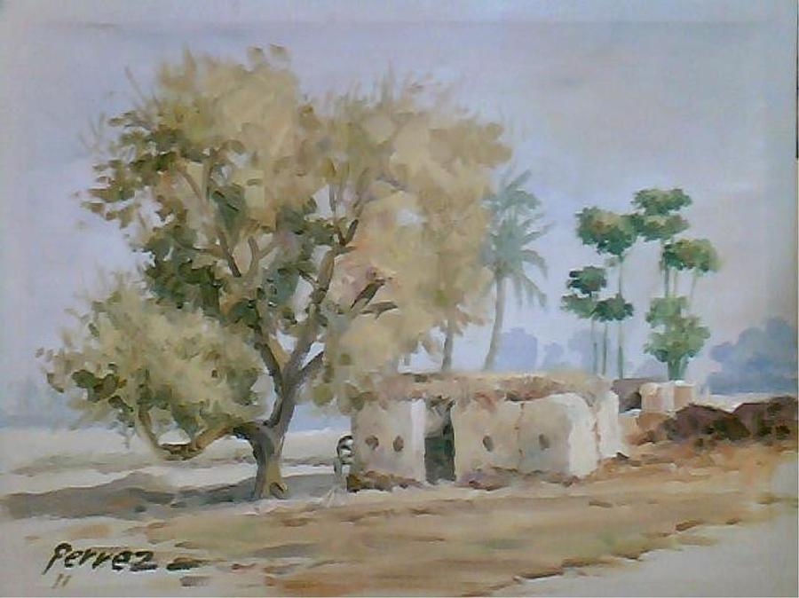 Village Painting - Simple Village Life by Rumesa Saddozai