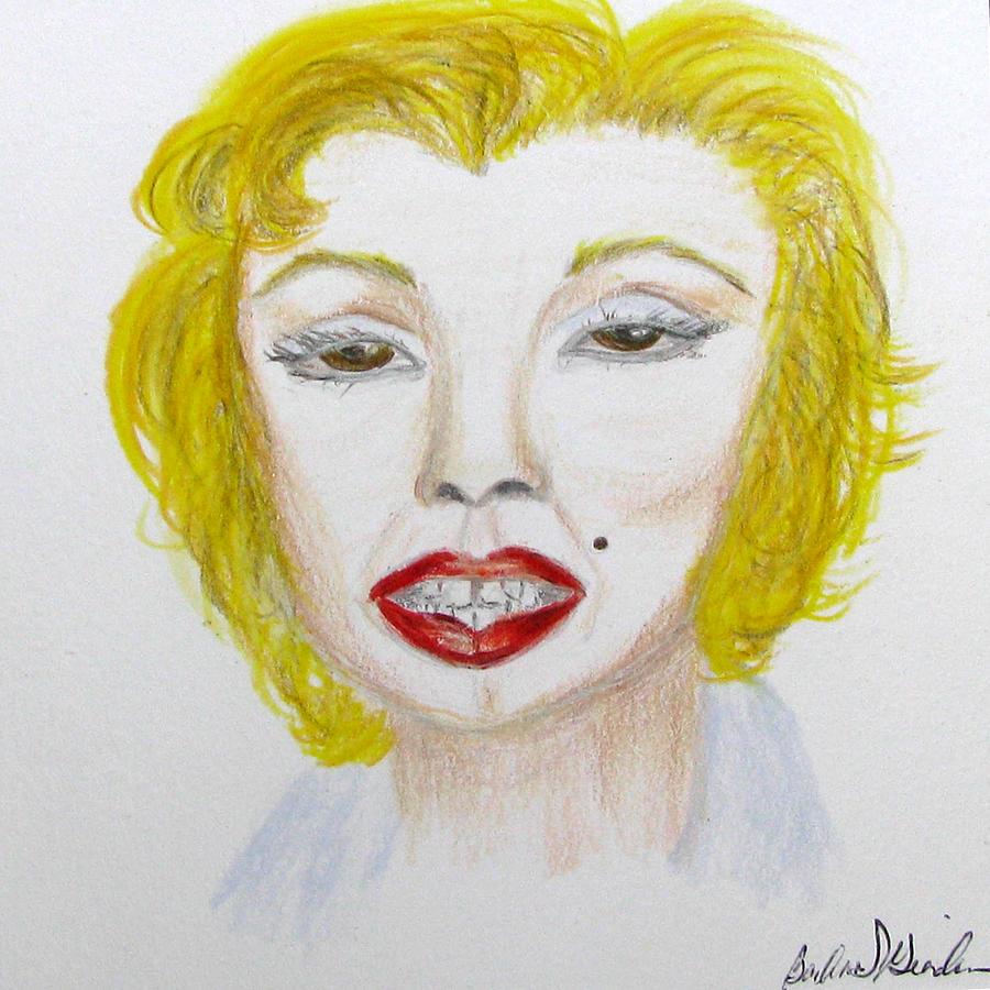 Marilyn Drawing - Simply Marilyn by Barbara Giordano