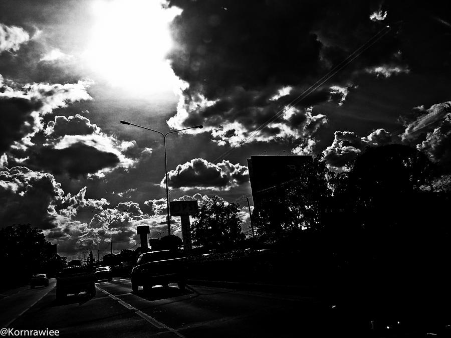 B&w Photograph - Sin City by Kornrawiee Miu Miu