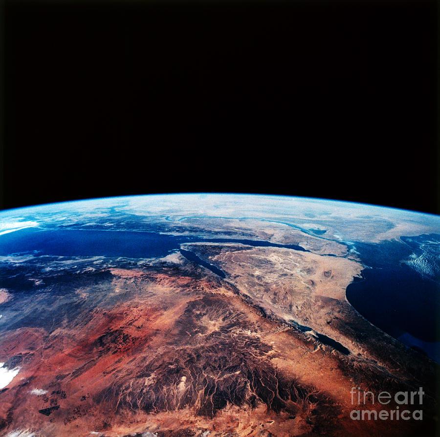 Earth Photograph - Sinai Peninsula by Nasa