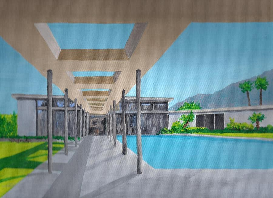 Architecture Painting - Sinatra House One by Randall Weidner
