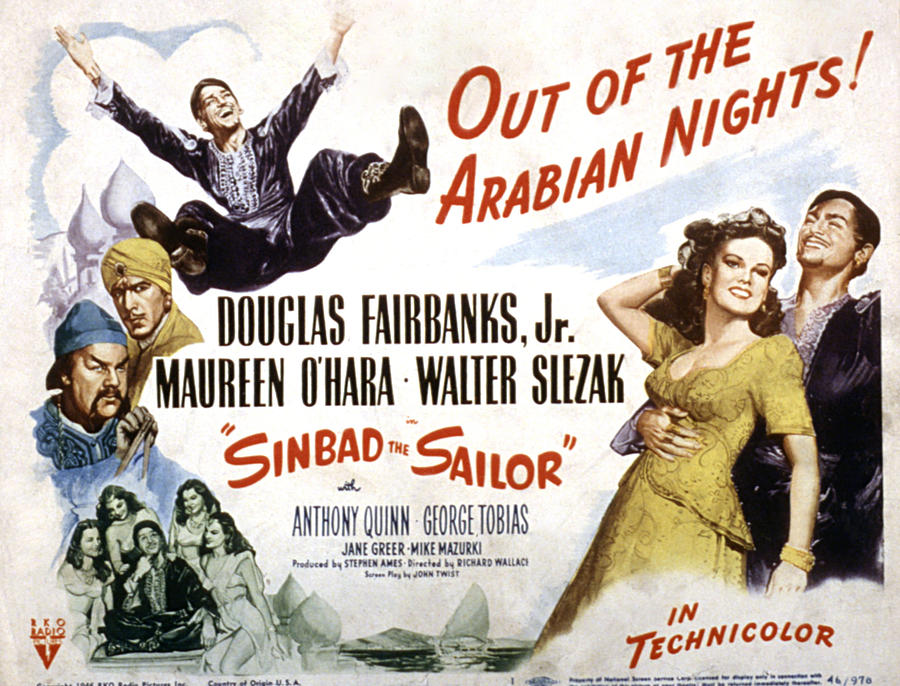 1940s Movies Photograph - Sinbad The Sailor, Walter Slezak by Everett