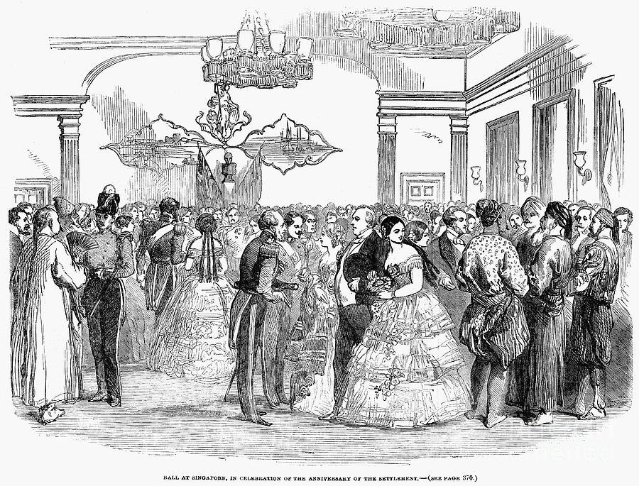 1854 Photograph - Singapore: Ball, 1854 by Granger