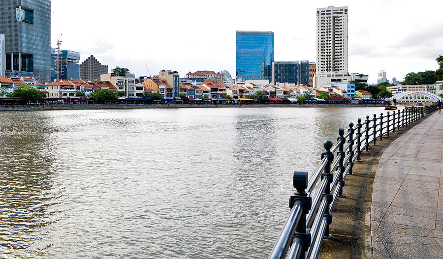 Colonial Photograph - Singapore River by Chua  ChinLeng