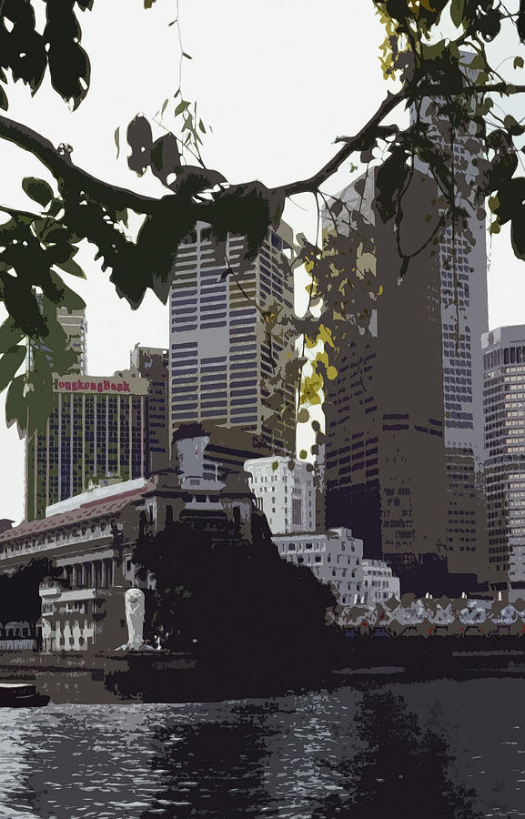 Asia Photograph - Singapores Merlion by Juergen Weiss