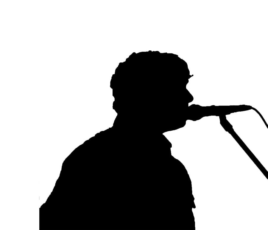 Singer Silhouette Digital Art by Mayo