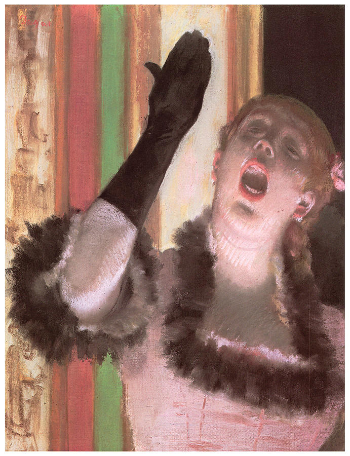 Singer Pastel - Singer With A Glove by Edgar Degas