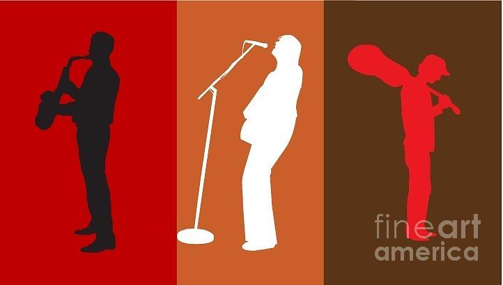 Paint Digital Art - Singing Poster by Mostafa Asmer