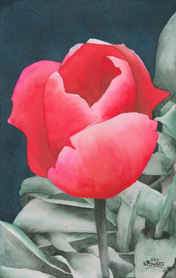 single tulip painting by ken powers
