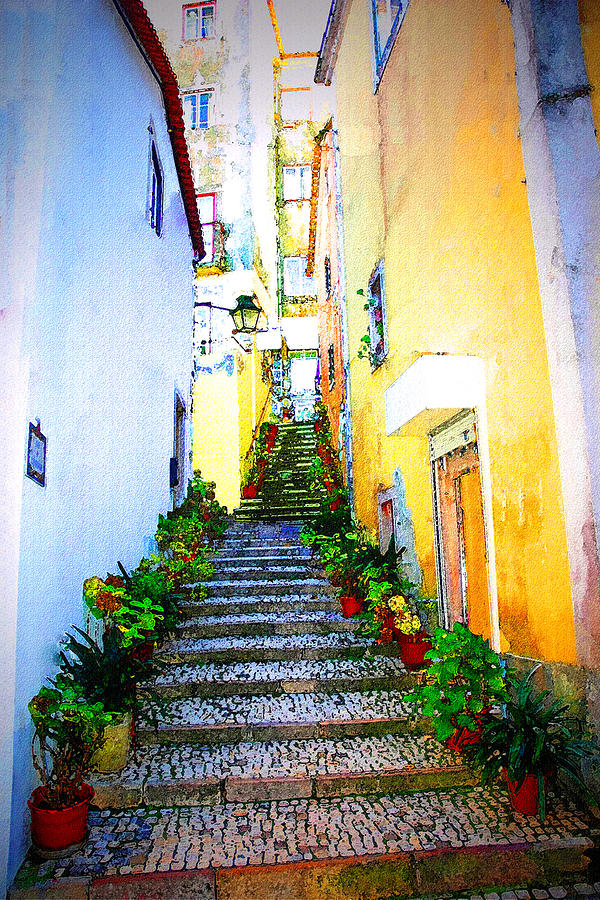 Sintra Photograph - Sintra Portugal Stairs by Michael Dantuono