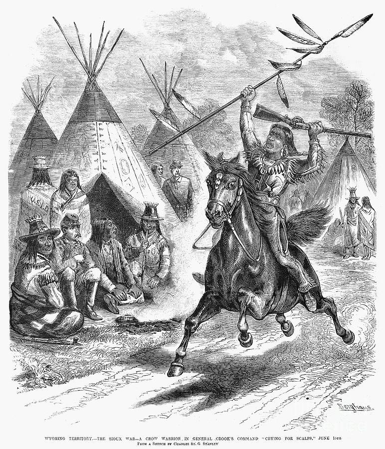 1876 Photograph - Sioux War, 1876 by Granger