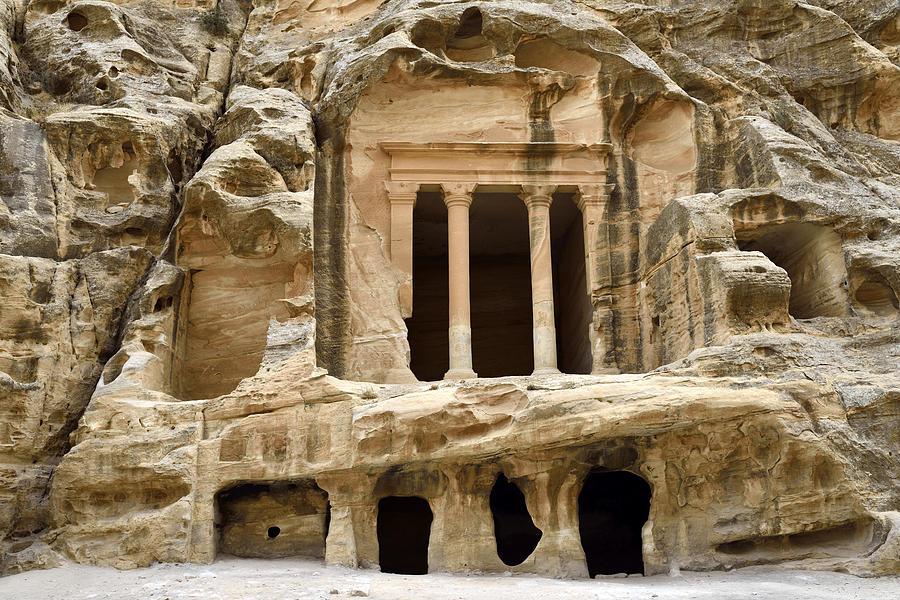 Horizontal Photograph - Siq Al-barid (little Petra), Jordan by Marco Brivio