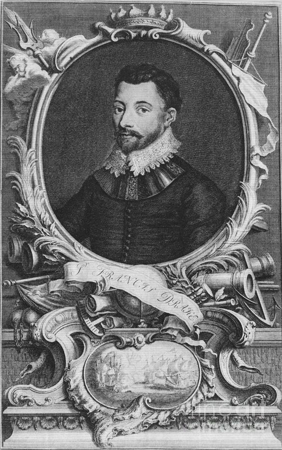 History Photograph - Sir Francis Drake, English Explorer by Photo Researchers, Inc.