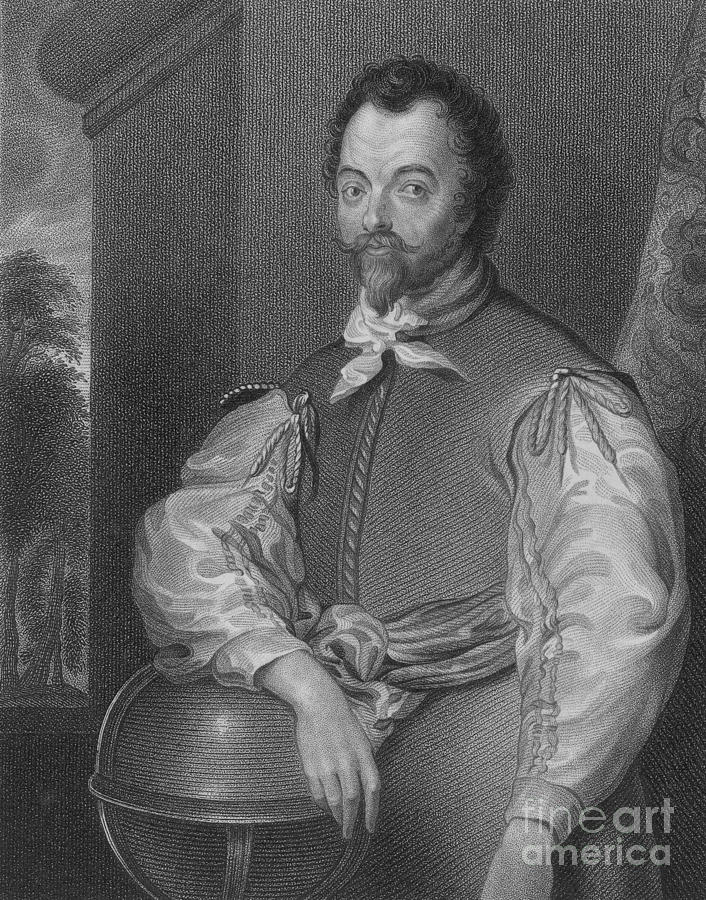 History Photograph - Sir Francis Drake, English Explorer by Photo Researchers