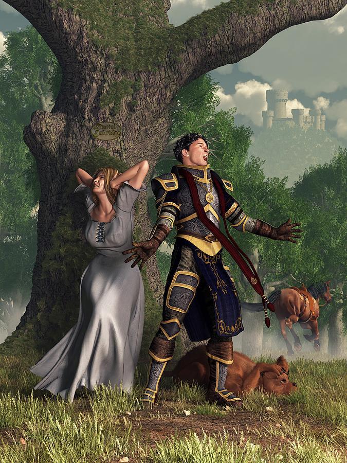 Singing Digital Art - Sir Justinus The Singing Knight by Daniel Eskridge