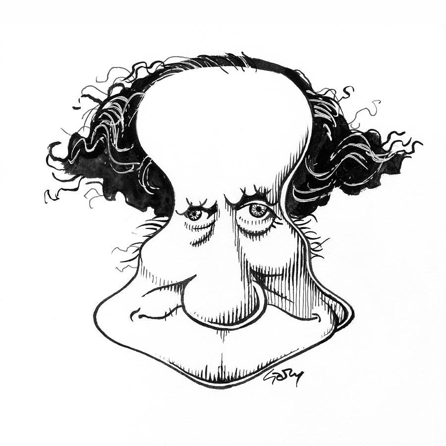 Sir Richard Owen Photograph - Sir Richard Owen, Caricature by Gary Brown