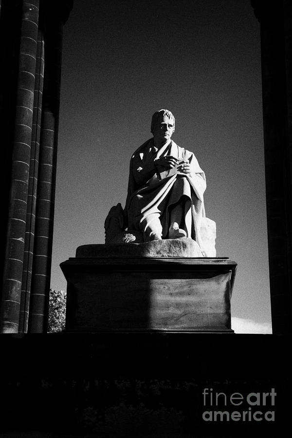 Sir Photograph - Sir Walter Scott Statue Inside The Monument On Princes Street Edinburgh Scotland Uk United Kingdom by Joe Fox