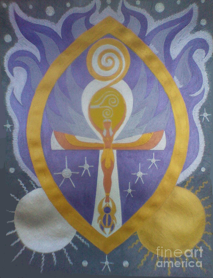 Sirius Goddess - Sold Painting by Michelle Collier