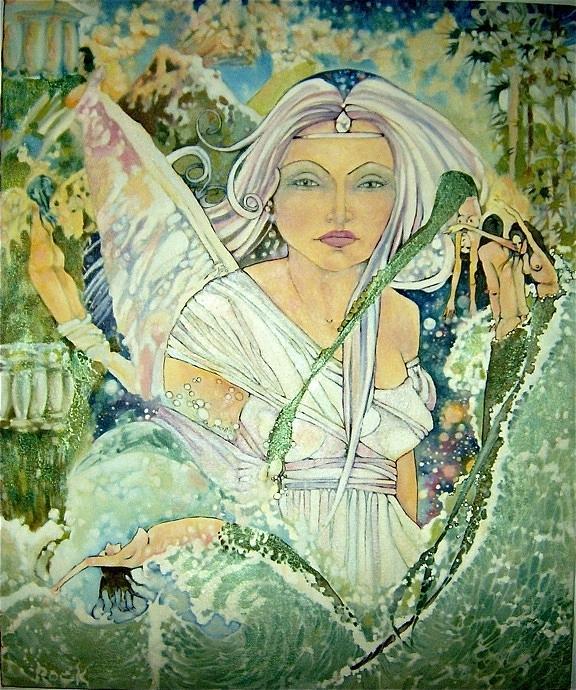 Sister Angel Drawing by Jackie Rock