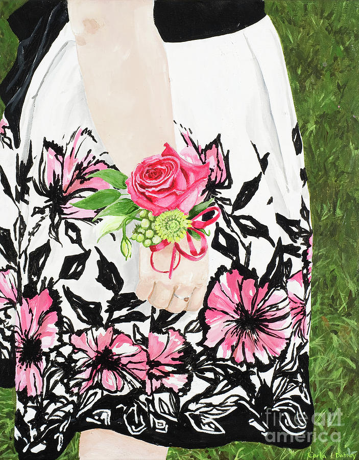 Floral Painting - Sister Of The Groom by Carla Dabney