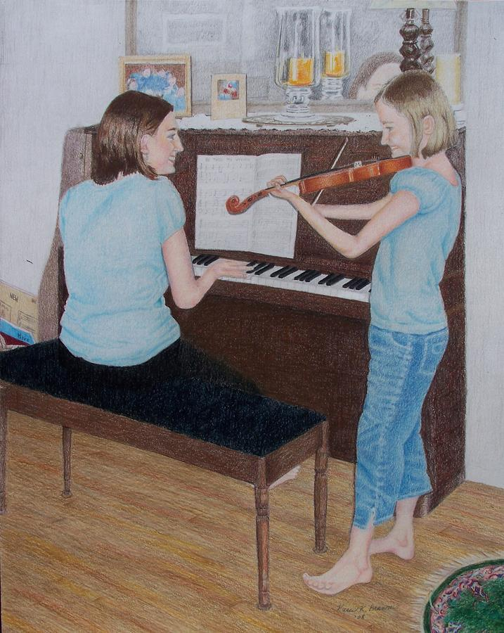 Sisters Painting - Sisters by Karen Brannon