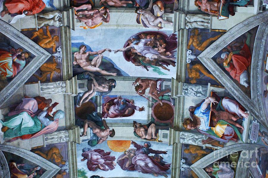 Sistine Chapel Photograph - Sistine Chapel Ceiling by Bob Christopher