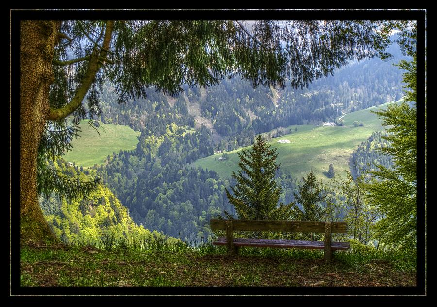 Bench Photograph - Sit Down For A While by Matthew Green