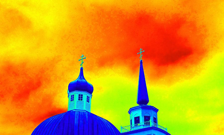 Architecture Digital Art - Sitka Russian Orthodox 8 by Randall Weidner
