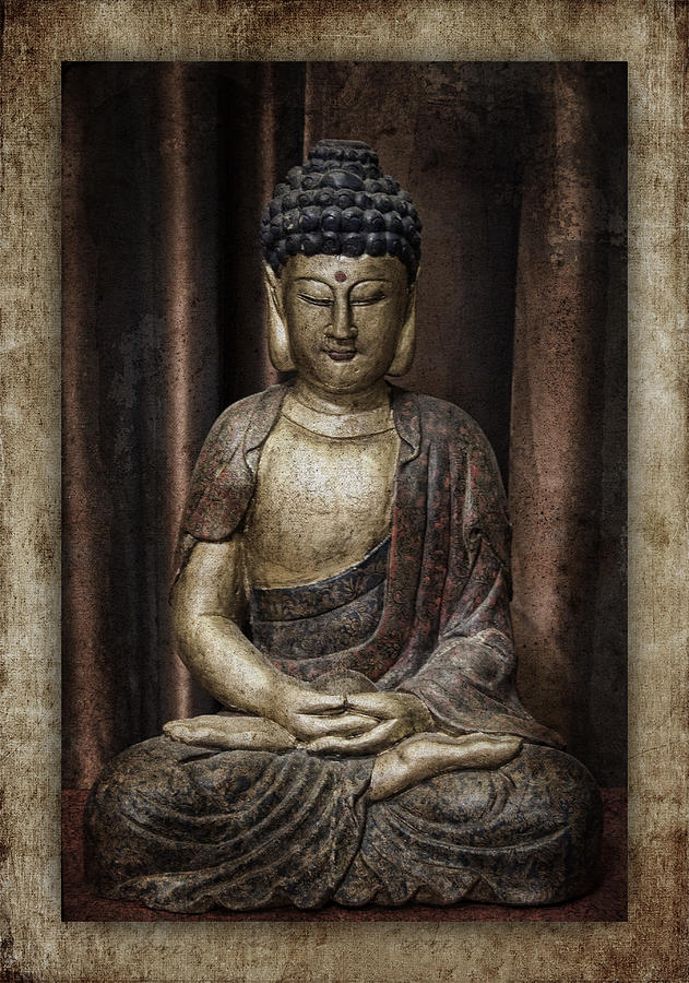 Buddha Photograph - Sitting Buddha by Carol Leigh