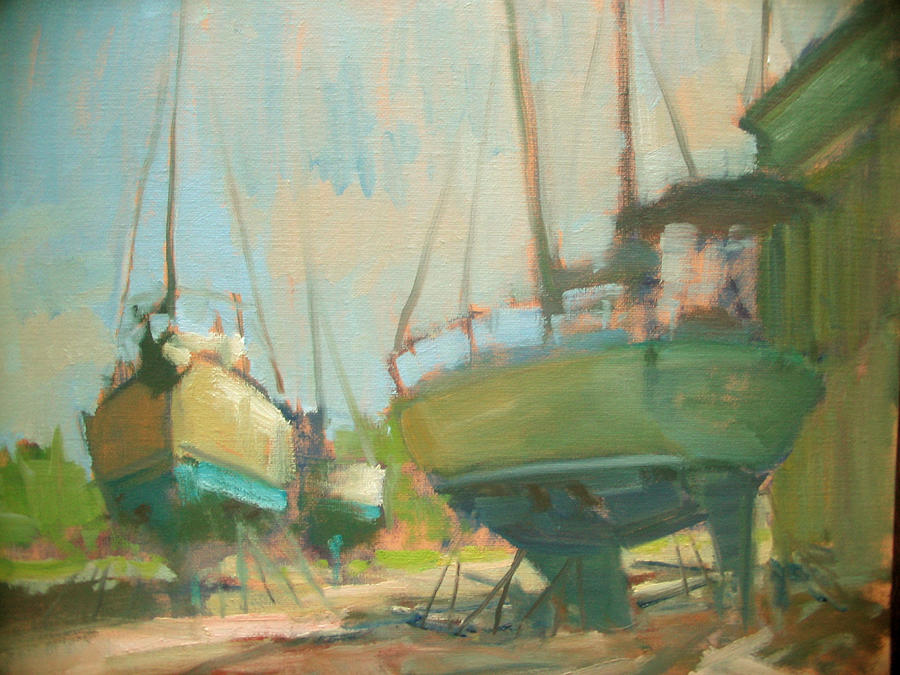 Plein Air Painting - Sitting Dock by Berto Ortega
